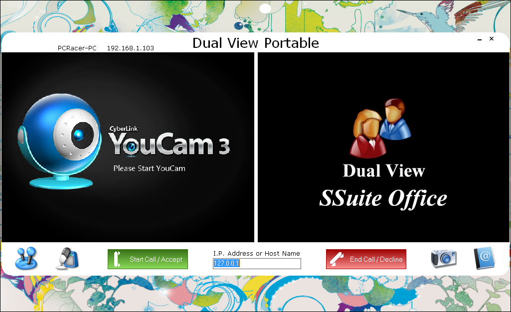 Dual View LAN Video Chat: Instant LAN video conferencing without an